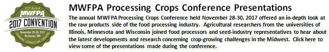 Processing Crops Information for MWFPA